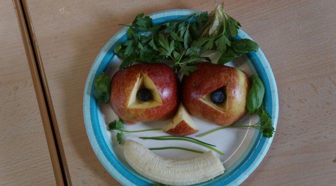 Kunst mit Obst und Gemüse dank Spende